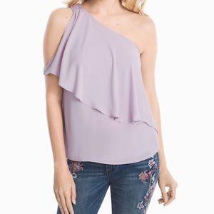 Lavender One Shoulder Blouse